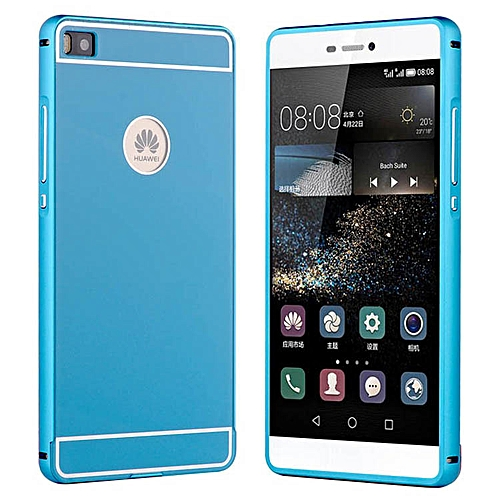 finest selection 13837 2e711 P8 Lite Slim Aluminum Case For Huawei Ascend P8 5.2inch Lite Phone, Luxury  Metal Frame Acrylic Back Cover For Huawei P8 Lite (Color:Blue)
