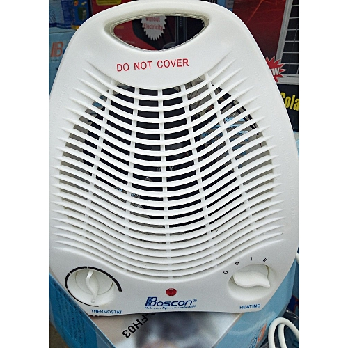 Electric Fan Heater With Thermostat - 1000W/2000W