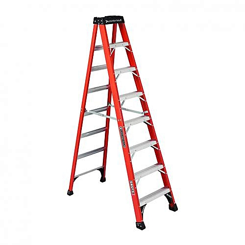 8-Foot Fiberglass Step Ladder - A-Frame