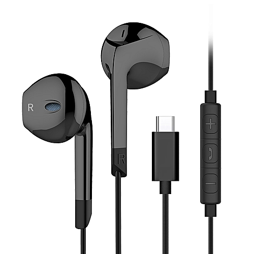 Langsdom E6T HiFi Type C Earphone Heavy Bass Stereo Headphone With Mic For Xiaomi 8 Mix2 Letv Huawei