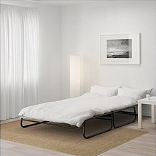 Collapsable Sofa-bed, Iron Frame With Mattress, Strong Enough For Guests Or Kids, Dark Grey