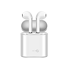 Wireless Bluetooth Earpods White Earbuds Headphones Stereo TWS In-Ear Earpieces Earphones Noise Cancelling For Apple IPhone X 7 8 Plus Samsung Galaxy S7 S8 HTC IOS Android With Charging Case