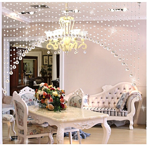 Elegant Home Decoration 1 Super Glass Beads Door String Tassel Curtain Wedding Divider Panel Room Decor-As Show