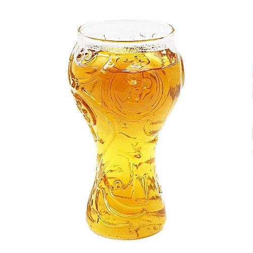 2018 World Cup High-Borosilicate Glass Trophy-shape Cocktail Beer Mug 400ml Glass Cup
