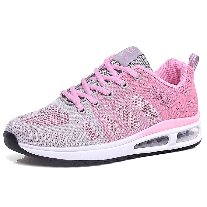 67efe4cd3 Fashion Sneakers Women Casual Shoes Flying Weaving Breathable Cushion  Jogging Trainers Pink
