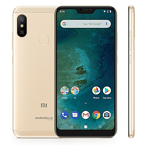 Mi Mi a2 Lite 3gb 32gb Global Offical Version 4000mAh Battery 5.84 Inch Android One Qualcomm Snapdragon 625 Octa Core Up To 2.0ghz 4g Smartphone Gold