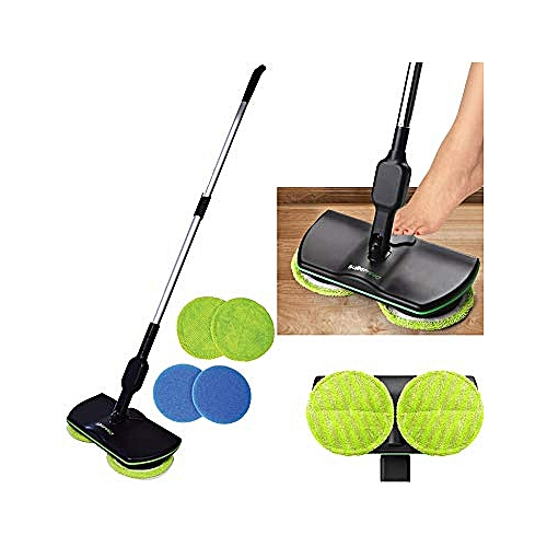 2018,Cordless Electric Spinning Mop,Rechargeable Powered Floor Cleaner