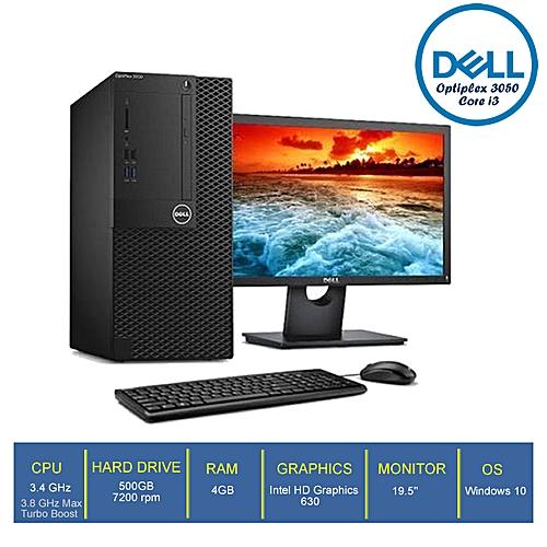 Optiplex 3050-3 Mini Tower Desktop Core I3 4GB/500GB HDD + 19.5'' Monitor WIN10 Pro