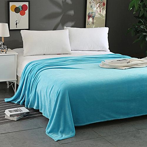 Dtrestocy Super Soft Warm Solid Warm Micro Plush Fleece Blanket Throw Rug Sofa Bedding