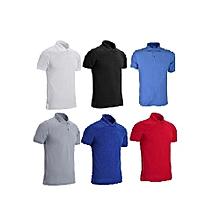 5f7523a7b5e Men  039 s GM Polo Plain Short Sleeve T-shirt ...
