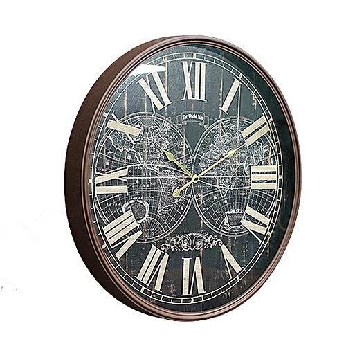 QUKAU Creative Large Office Wall Decoration Clock Diameter 60CM Wall Decoration Clock Cafe Dining Room Wall Decoration Clock