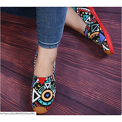 Fashion Ladies Slip-on Sneakers - Multicolour