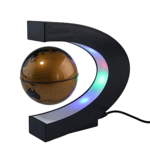 Creative Gift C Shape Floating Tellurion Globe Shape Magnetic Levitation Light World Map (UK)