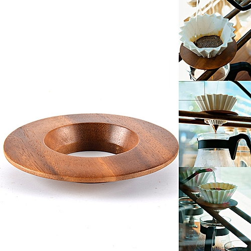 Japanese V60 Pour Over Coffee Dripper Filter Cup Wood Holder