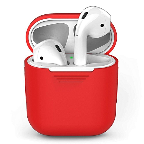 c3092e6e945 Generic AirPod Case Protective Silicone Cover And Stylish Protective Skins  Bundle For Apple Airpods Charging Case (Red) CHSMALL