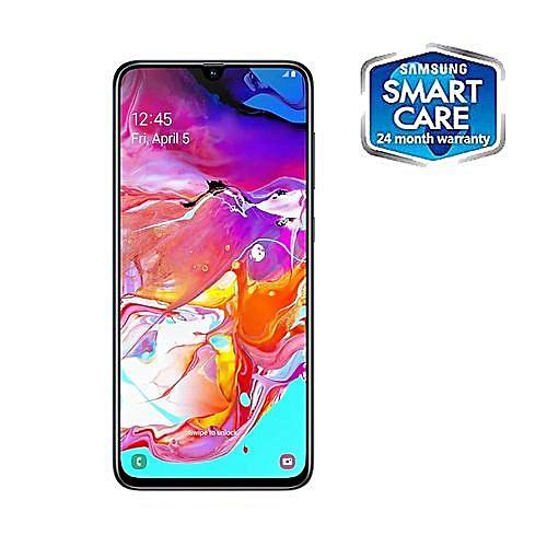 Galaxy A70 6 7-Inch S-AMOLED (6GB, 128GB ROM) Android 9 0 Pie,  (32MP+8MP+5MP) + 32MP Dual SIM 4G Fingerprint Smartphone - Black