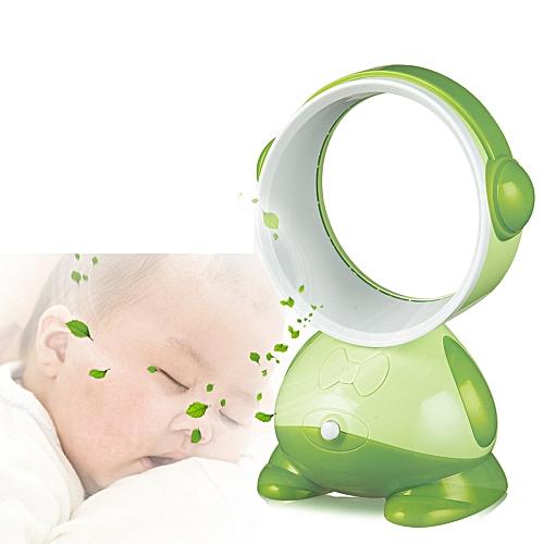 Houseworkhu Desktop Bladeless Portable Fan Air Flow Cooling Cool Fan Low Noise GN -Green