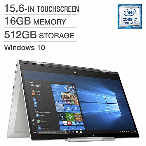 "Envy X360 15-CN0003 Core I7-8550U 512GB SSD 16GB 15.6"" NVIDIA® MX150 4096MB Backlit Keyboard"