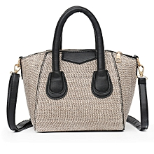 8715f4f84777 Tectores Vintage Women Linen Zipper Pure Color Crossbody Bag Shoulder Bag  Hand Bag