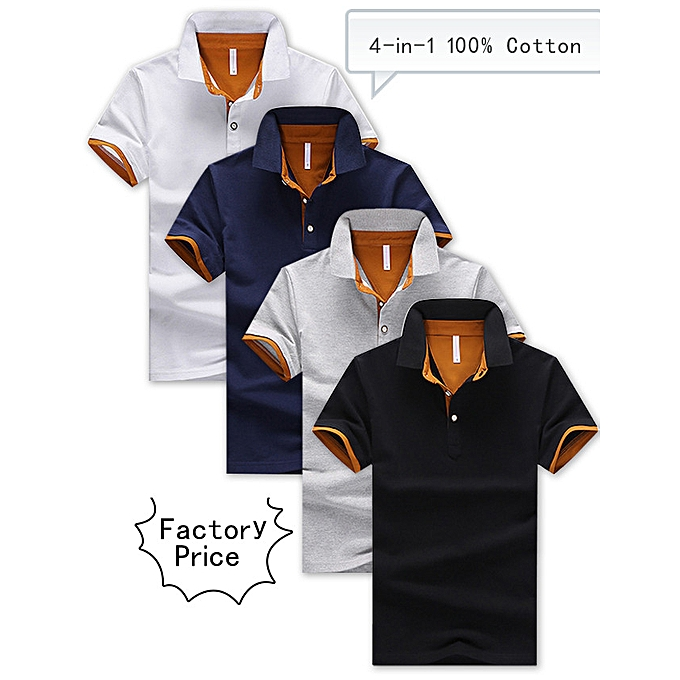cdc2696c7992 Men's 4-in-1 Cotton Polo Shirt Bundle