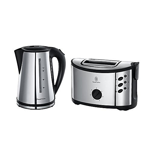 Oxford Twin Pack Regent Kettle + 2-Slice Toaster