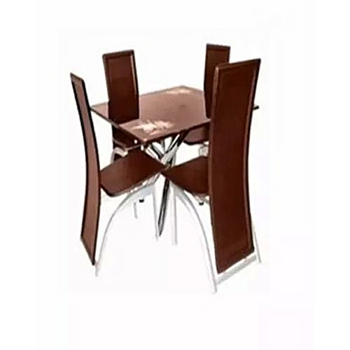 Dinning Set With 4 Chair - Brown (Lagos Orders Only)