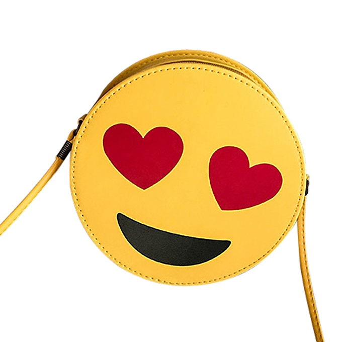 Por Women Child Cute Emoji Emoticon Handbag Shoulder Bag