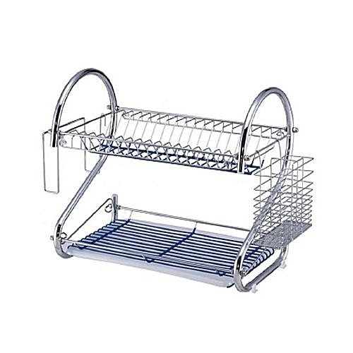 Stainless Double Layer Dish/(Plate Rack.