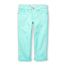 35e099975e Girls Solid Capri Jeans- Icelandic