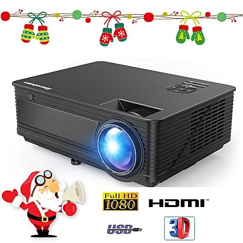 M5 1080P Full HD Projector 3500 Lumens High - EU Plug - Black