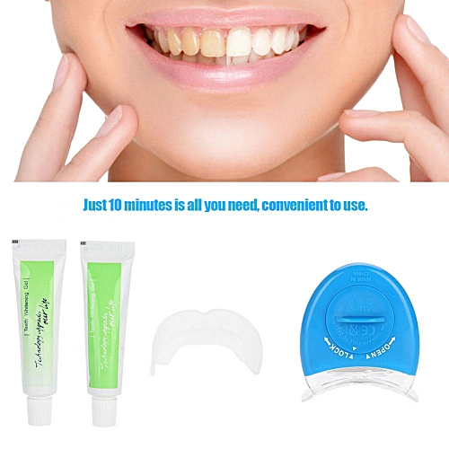 Personal Teeth Whitening Tool Kit Light Transmitter Gel Dental Bleaching