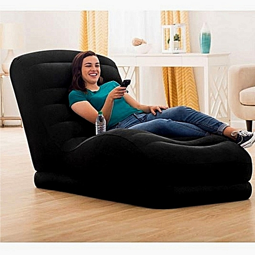 Inflatable Contoured Mega Lounge Chair With Built-In Cup Holder