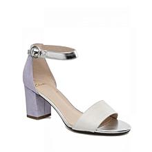 39a9ab1078f Women  039 s Suzie Deva Block Heel Combi Leather Sandals - White