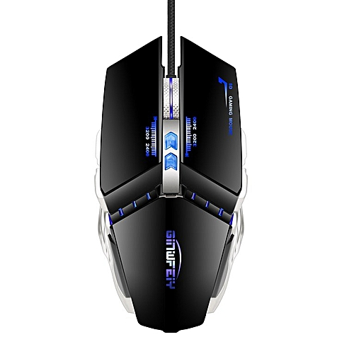 G3 Silent Click USB Wired Gaming Mouse Mute Optical Computer Mouse Mice Black