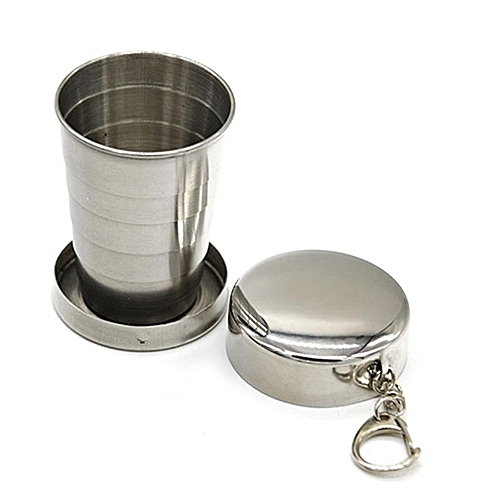 Eleganya 1 PC Boutique Stainless Steel Cup Fashion Portable Foldable Water Cup