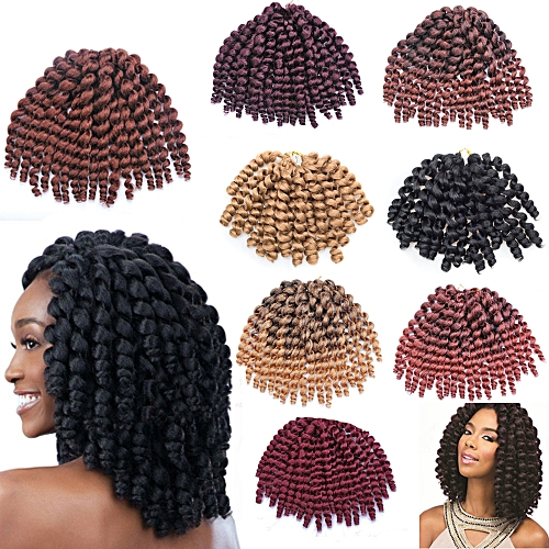 Generic 20 Strands Synthetic Full Wig Kinky Curly Curlkalon Crochet