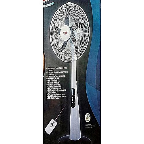 """Rechargeable Standing Fan 18"""""""