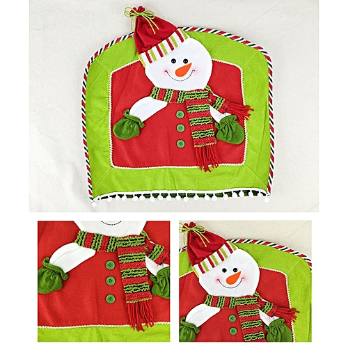 Christmas Santa Claus Chair Back Cover Elk Hat Dinner Party Gift Decoration