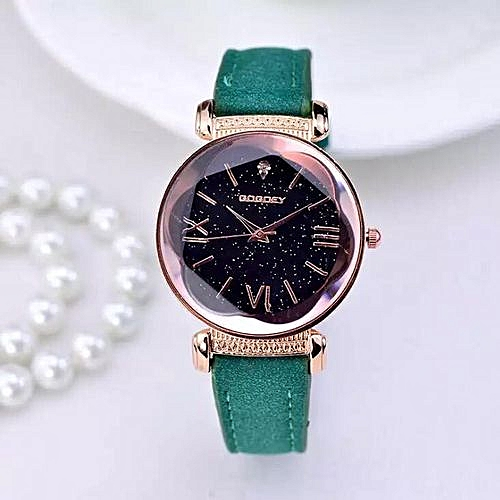 Ladies Elegant Quartz Wristwatch - Green