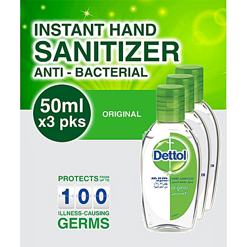 Hand Sanitizer 50ml - 3 Pack