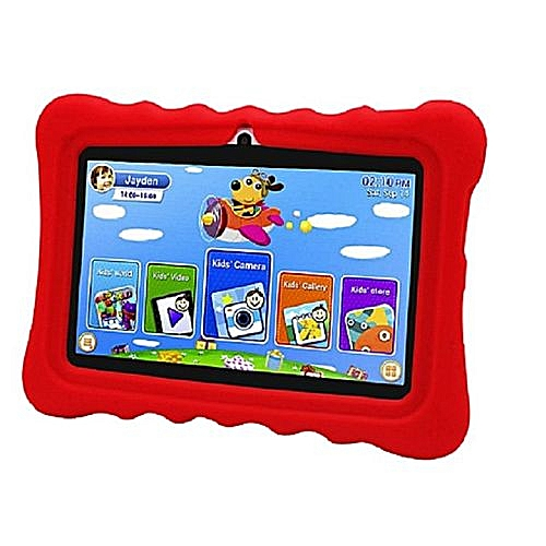 JT 707 2GB RAM Children Tablet (Pre-Installed Educational Apps)+ Free Proof Case - Red