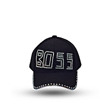 232d198d6e6 ebay unisex boss stone crested fashion baseball sports cap black e411f a7cd7