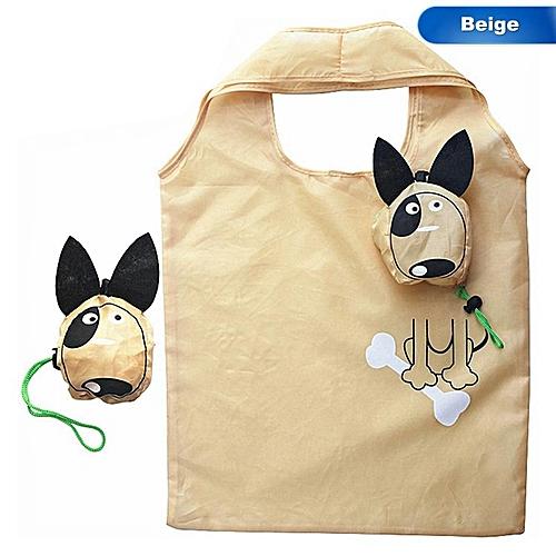 New Animals Cute Dog Pattern Useful Nylon Foldable Folding Eco Reusable Shopping Bags