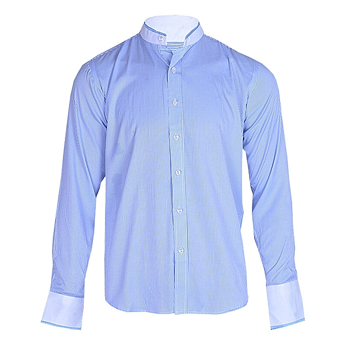striped fitted shirt - Blue Closed