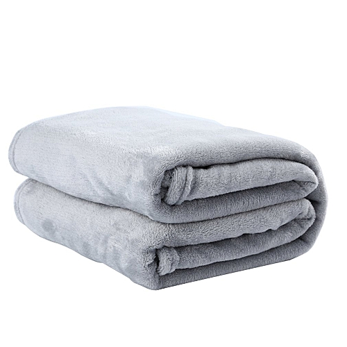 Solid Color Flannel Coral Blanket Plain Color Velvet Blanket Knee Blanket Silver Gray