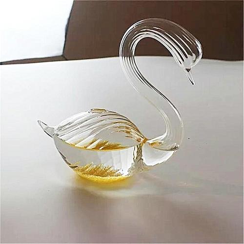 Fashion Swan Flower Vase For Wedding Decoration Home Decor Vase Wedding Decoration Vase Transparent Floor Glass Vase Terrarium