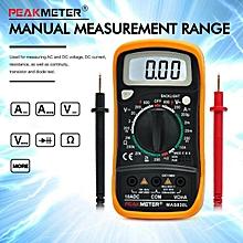 MAS830L Manual Ranging Digital Multimeter AC/DC Voltmeter Ohmmeter Tester With Backlight LCD Display For