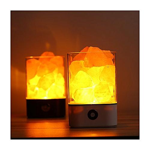 Crystal Salt Lamp Warm Light Night Light