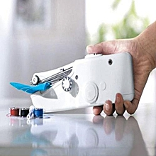 Used, Mini Handheld Sewing Machine Portable Needlework Cordless Household Handy Stitch Electric Clothes Fabric Sewing Tools Overlock for sale  Nigeria