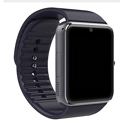 Ios And Android Sim Card, Bluetooth, Camera, Media Card, Enabled GT08 Smart Watch - Black